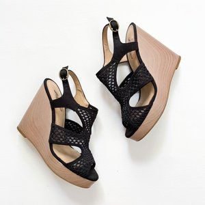 Lucky Brand Black Wedge Sandals